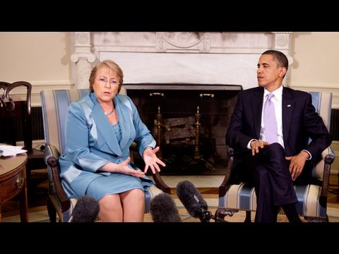 President Obama and President Michelle Bachelet of Chile