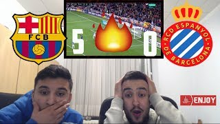 REAL MADRID FAN REACTS TO MESSI SCORING HATTRICK IN 5-0 WIN AGAINST  ESPANYOL