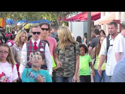 Heidi Klum and boyfriend Vito Schnabel spend the day with her kids at Disneyland in Anaheim, CA