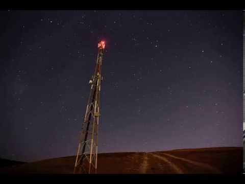 antenna and stars timelapse
