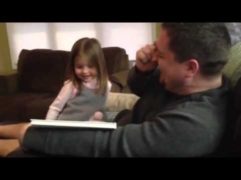 Little Girl Has Best Reaction To Being A Big Sister i Farted video