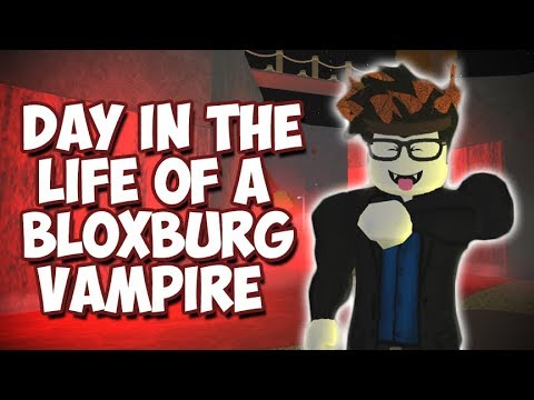 ROBLOX BLOXBURG: Day in the life of a Vampire (Roblox Roleplay)
