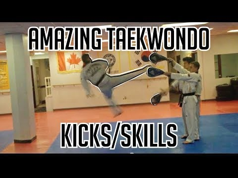 Amazing Taekwondo Kicks & Board Breaking video