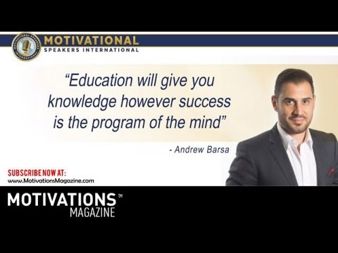 Motivational Speakers Australia  Presents Andrew Barsa - Financial Wealth Mindset Program.