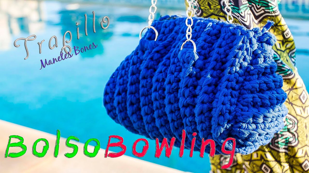 Bolso Bowling de trapillo Tutorial DIY Crochet XXL - YouTube