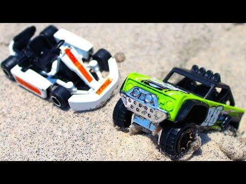 Видео с машинками - Карт и Джип - Гонки на песке