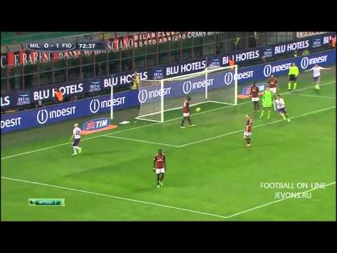 AC Milan 0 -2 Fiorentina (Serie A) HD Highlights  2/11/2013
