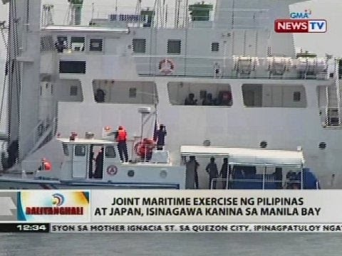 Joint maritime exercise ng Pilipinas at Japan, isinagawa kanina sa Manila Bay