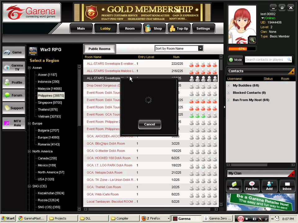 Garenamaster is an garena hack which removes all the restrictions from garena gaming client