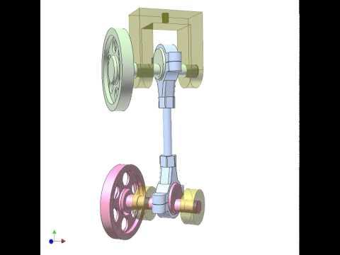 Spatial 4 bar linkage mechanism 1