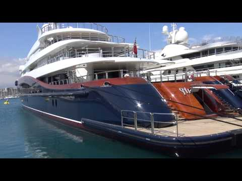 [4k] Superyachts in Antibes, YCA Southern France April 2015