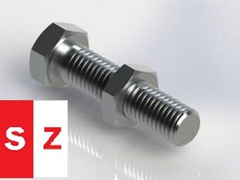 Solidworks Bolt Tutorial and Nut With Download Link