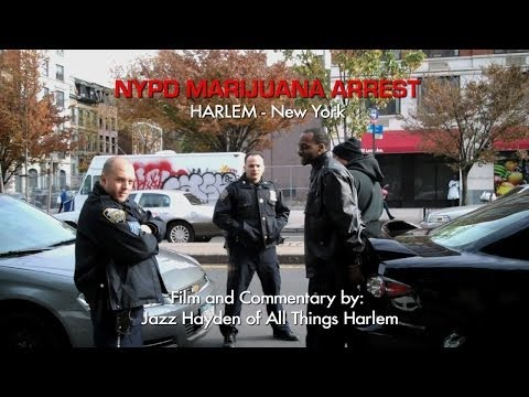 NYPD Marijuana Arrest, Harlem - War on Drugs