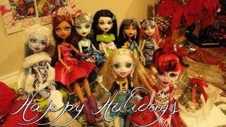 Monster High Stop Motion Winter Holiday Party - 2012