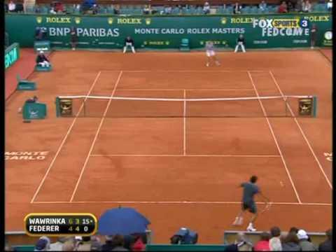 Monte-Carlo 09: 3R Roger v Wawrinka (Highlights Pt 2)