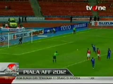 Indonesia vs Laos 2-2 suzuki AFF cup 2012