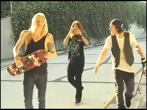 Chad Muska Skateboarding Los Angeles 101 Freeway Rail