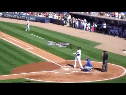 Jason Heyward  Homers in his FIRST MLB at bat for the Atlanta Braves {Opening Day - April 5th 2010}