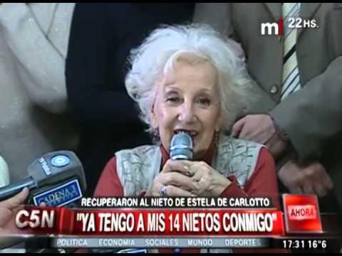 Estela de Carlotto recuperó a su nieto