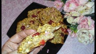Овсяное печенье за 3 минуты для ППэшников !  Перекус и завтрак на скорую руку.