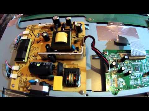 Просмотр изображения монитор benq model: q7t4 - ремонт tv