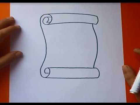Como dibujar un pergamino paso a paso | How to draw a scroll - YouTube