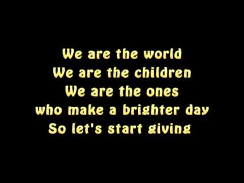 Lyrics - Michael Jackson: We Are the World