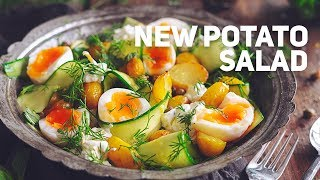 New Potato Salad with Eggs and Cucumbers