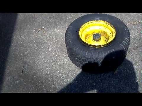 Seating Bead On Small Mower Tire (John Deere STX-38)