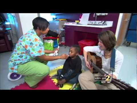 Music Therapy at the Children's Healthcare of Atlanta AFLAC Cancer Center on WSB-TV
