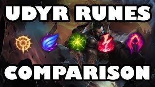 Udyr Runes Comparison   Top 5 Keystones for Jungling [8.3]