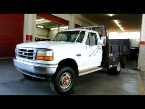 1994 Ford F-350 4x4 Flatbed Liftgate 2 Owner 126K For Sale 4wd Super Duty Delivery