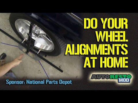Do It Your Self Toe. Camber Caster Home Wheel Alignment Using Quick Trick Tools Episode 248 Autorest