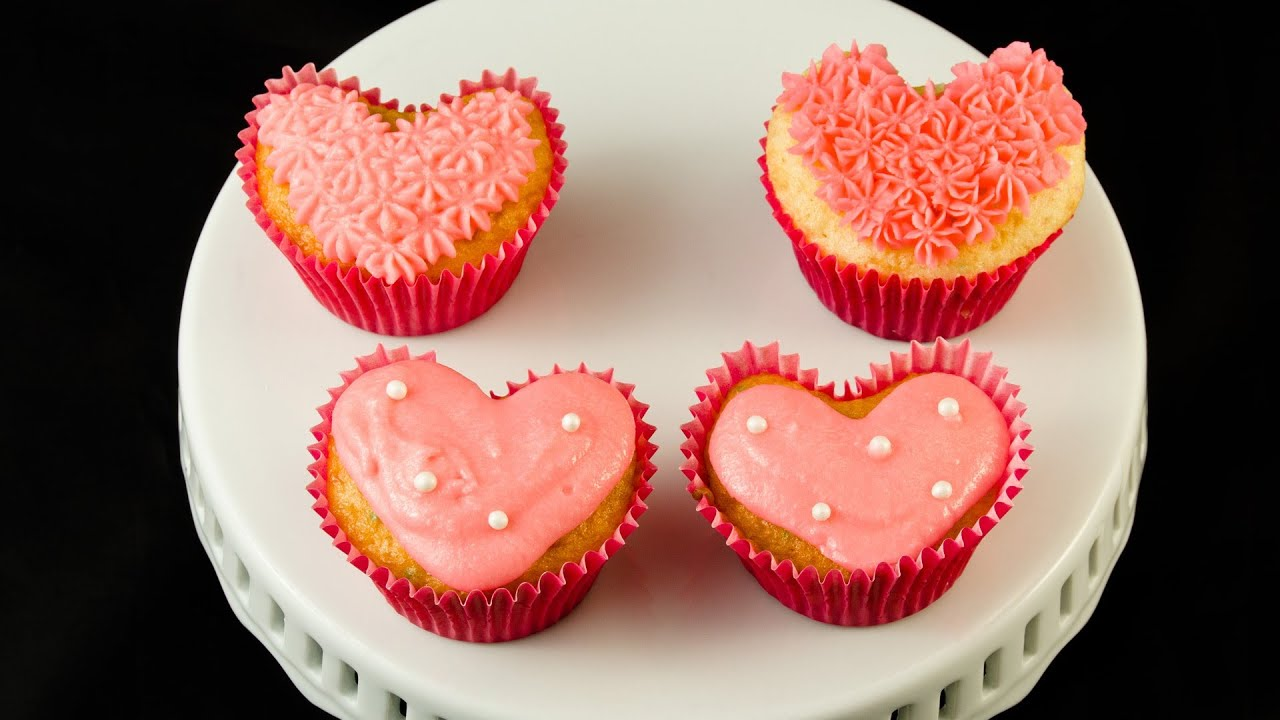how to make heart shaped cupcakes for valentine s day by