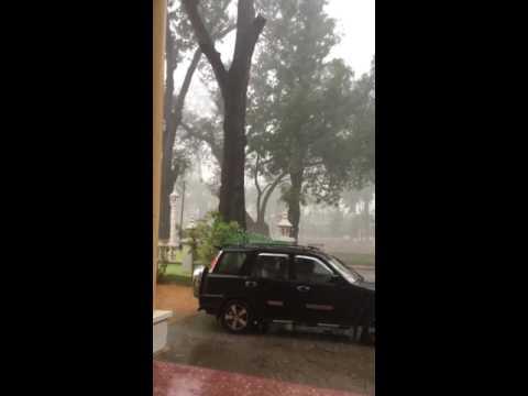 Cambodia Siem reap post office raining