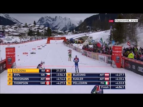 Лыжные гонки. Кубок мира. Зеефельд. Мужчины. Масс-старт. 15 км.