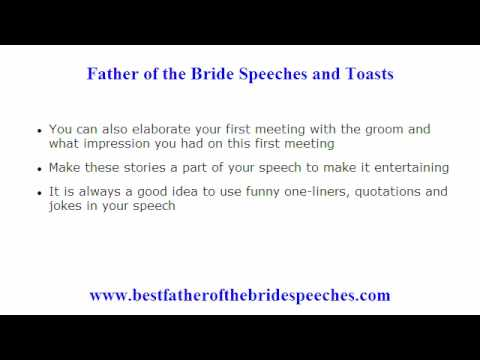 Funny Father Of The Bride Speeches 10 Tips To Add A