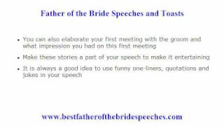 Funny Father of the Bride Speeches - 10 Tips to Add a Humorous Element in Your Father of Bride Toast