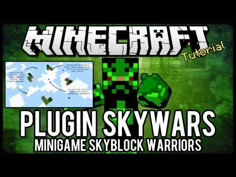 [Tutorial]SkyWars - Minigame Skyblock Warriors Minecraft