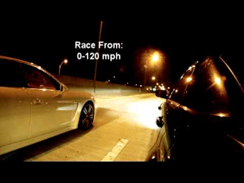 2010 Porsche Panamera Turbo w/ Flash vs. Modded 2009 Chrysler 300C SRT8 - Drag Race