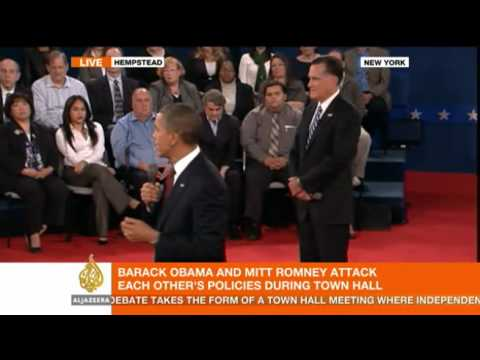 Second Presidential Debate 2012: Obama and Romney clash taxes and budget deficit
