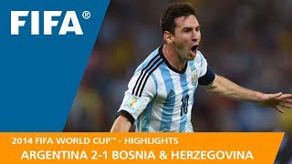 ARGENTINA v BOSNIA AND HERZEGOVINA (2:1) - 2014 FIFA World Cup™