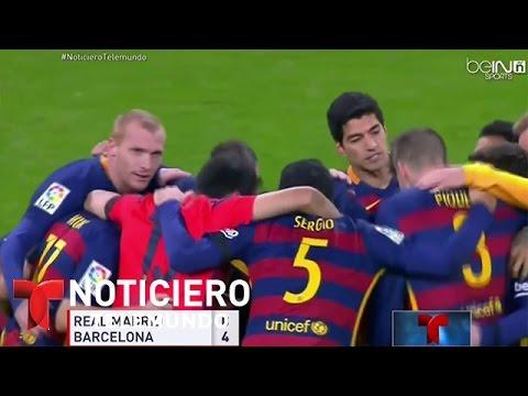 El Barsa fulminó al Madrid y otras notas deportivas   Noticiero   Noticias Telemundo