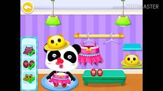 Baby Panda Supermarket Game for Kids   Baby bus games
