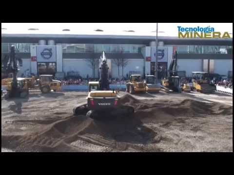 Volvo Construction presenta sus nuevas máquinas para el sector construcción.