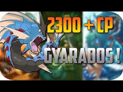 Pokemon GO BEST GYARADOS EVOLUTION! 2300+ CP!! Evolving Magikarp To Gyarados !