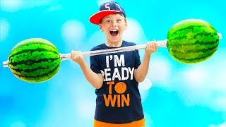 Ali pretend play with Watermelon and made Slime for kids Funny video for children