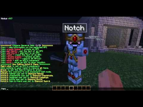 Minecraft Bukkit: Citizens Plugin Tutorial
