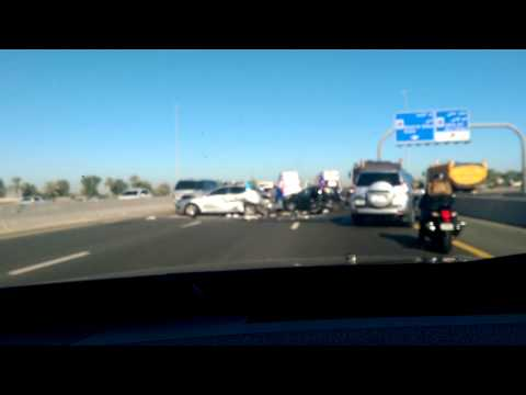 Accident on Al Ain Road in Dubai