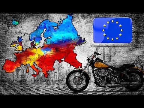 Путешествие на мотоцикле по Европе. На пароме в Финляндию.
